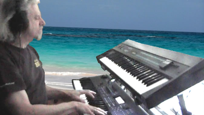 Rahj Playing Piano On Beach